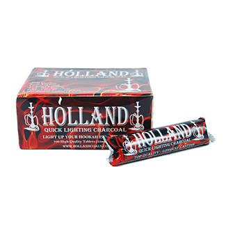 Holland Hookah Charcoal 33mm 100pc Box - TheHookah.com