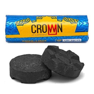 Crown Quick-Light Hookah Charcoal Roll - TheHookah.com