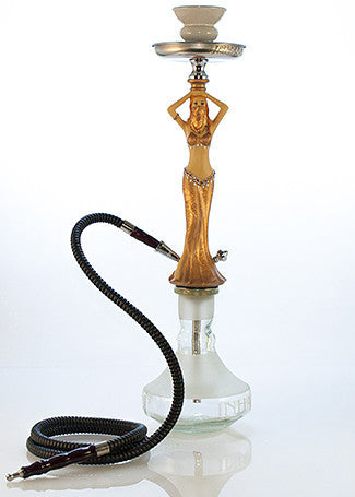 Belly Dancer Hookah Gold - TheHookah.com