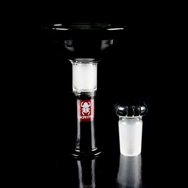 Kaya Glass Vortex Bowl Black - TheHookah.com