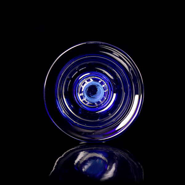 Kaya Glass Vortex Bowl Blue - TheHookah.com