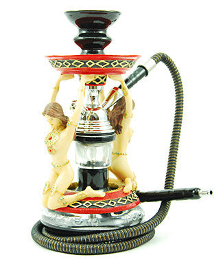 The Amazon Hookah Red - TheHookah.com