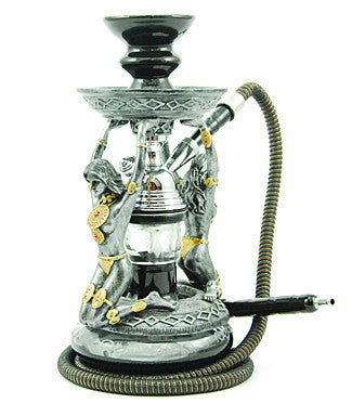 The Amazon Hookah Silver - TheHookah.com