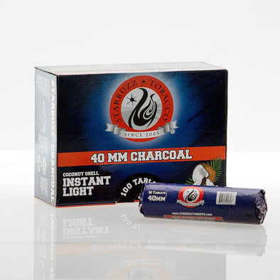 Box of Starbuzz Instant Light Coconut Charcoal 40mm (100Pc) - TheHookah.com