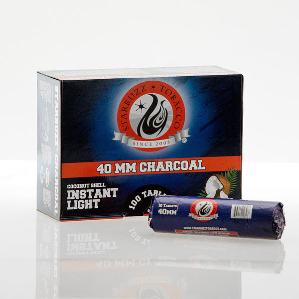 Roll of Starbuzz Instant Light Coconut Charcoal 40mm (10Pc) - TheHookah.com