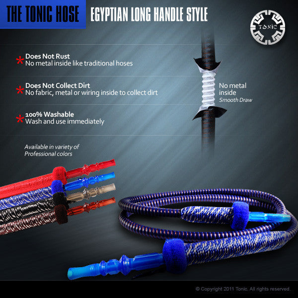 Tonic Long Handle Hookah Hose - TheHookah.com