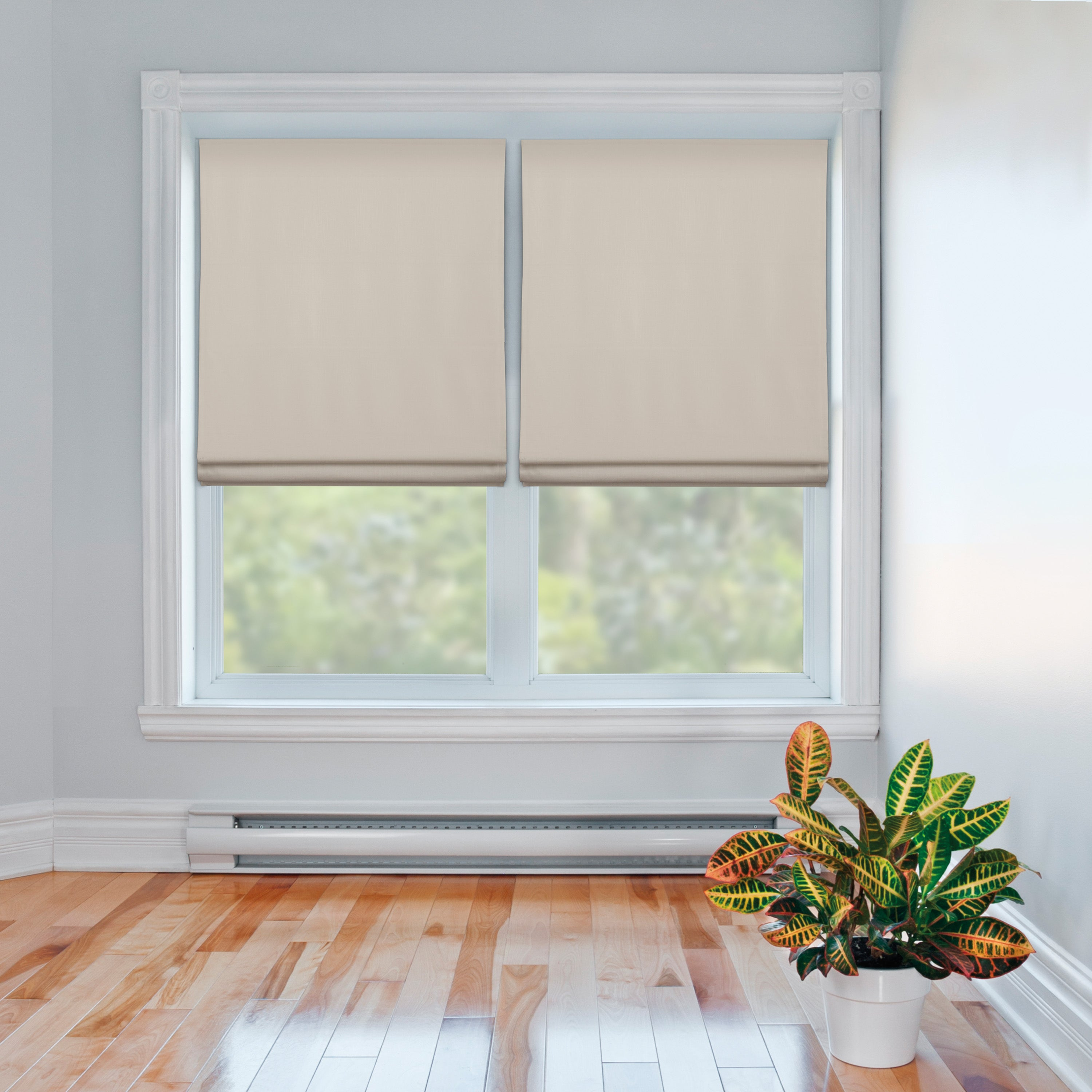 Flat Roman Window Shades