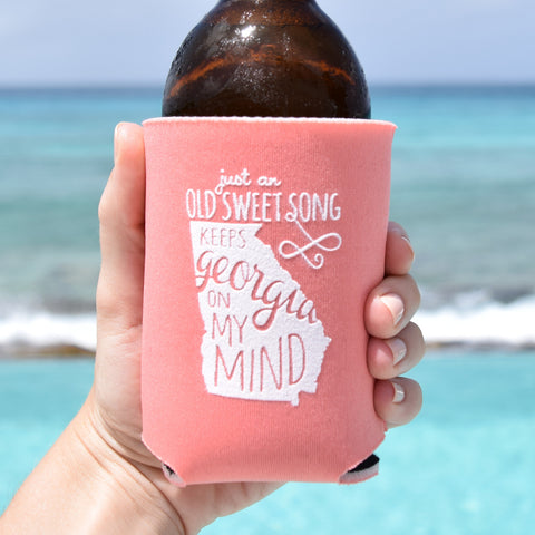 Georgia On My Mind Can Cooler in Peach