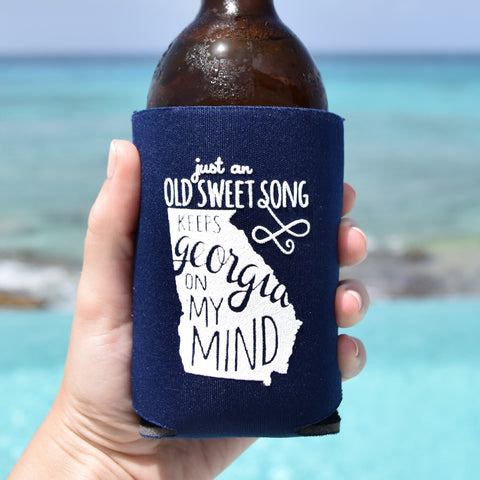 Georgia On My Mind Can Cooler in Navy