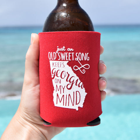 Georgia On My Mind Can Cooler in Red