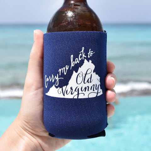 Carry Me Back to Old Virginny Can Cooler in Navy