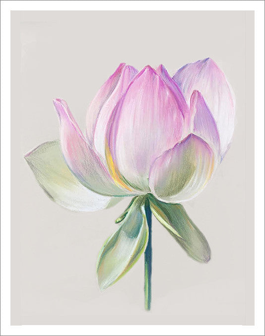 Greeting card with the pink flower pastel drawing katya zaytseva art greeting card with the pink flower pastel drawing mightylinksfo