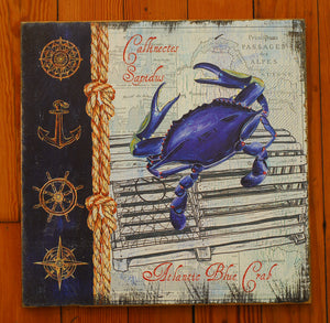 "Wood Art, ""Blue Crab"" - Annapolis Maritime Antiques"