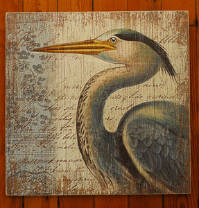 "Wood Art, ""Blue Heron Profile"" - Annapolis Maritime Antiques"