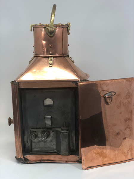 Copper Running Light, Oil Fired, circa late 1800's