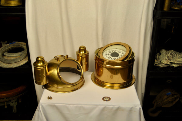 Binnacle, Bergin Nautik, with Gimballed Compass - Annapolis Maritime Antiques