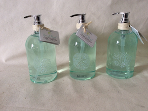 Soap, Hand, Aquamarine w/ coral, shell or sand dollar - Annapolis Maritime Antiques