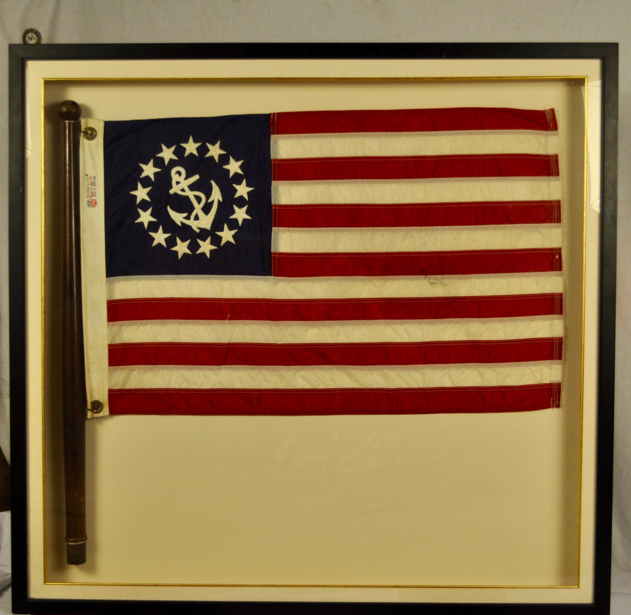 Art, Flag, Ensign, Yacht, Framed Flag - Annapolis Maritime Antiques