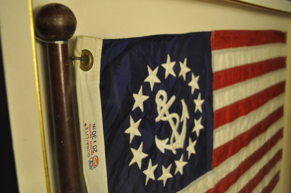Framed Ensign Flag - Annapolis Maritime Antiques
