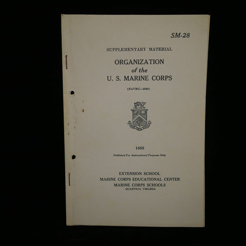 Organization of the U.S. Marine Corps, 1955. SM-28