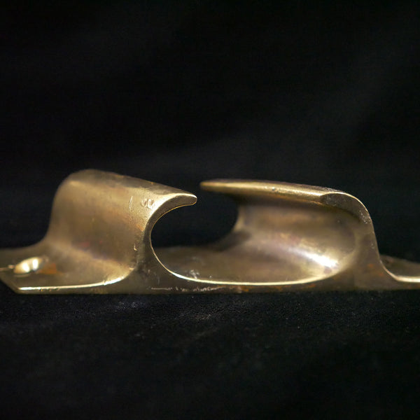 Angled Brass Bow Chock