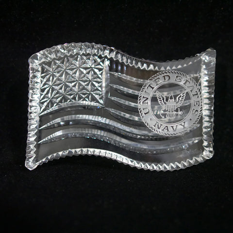 United States Navy Waterford Crystal