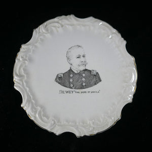 "Commemorative Rear Admiral George Dewey ""The Hero of Manilla"" plate"
