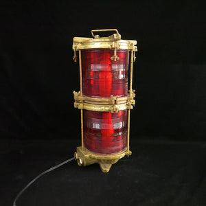 """M-325/87"" large red working light with two bulbs."