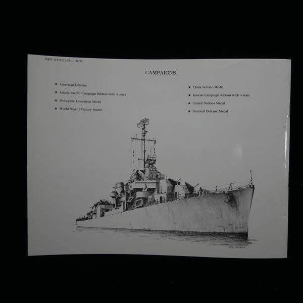 Warship's Data 1: USS Kidd (DD661) Back Cover