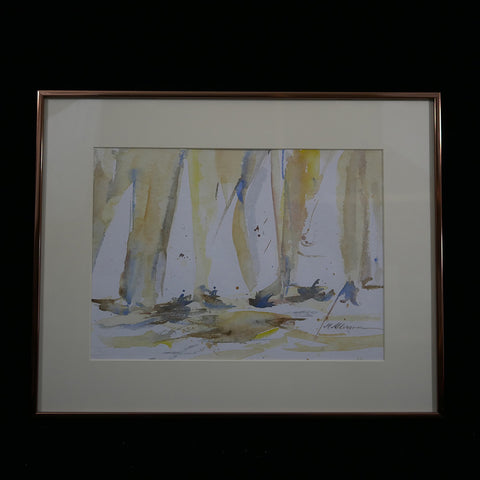 Abstract watercolor by VA artist Margaret Alderson.