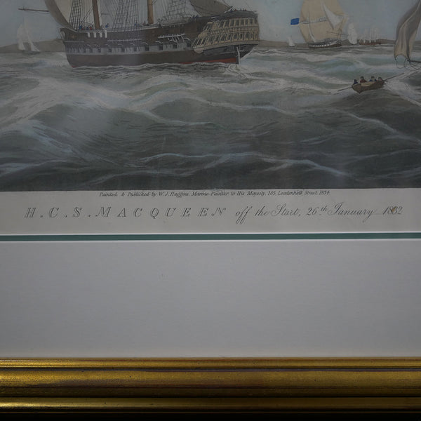 H. C. S. Macqueen off the Start, 26th January 1832 painting by W. J. Huggins Title Info