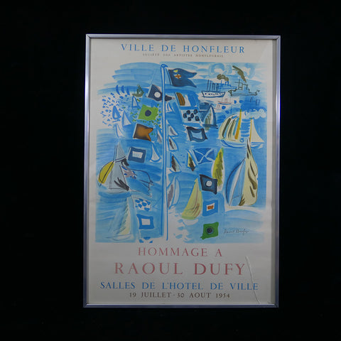 """Salles De L'Hotel De Ville"" lithographic poster advertises the tribute exhibition organized to honor the famous French painter Raoul Dufy."