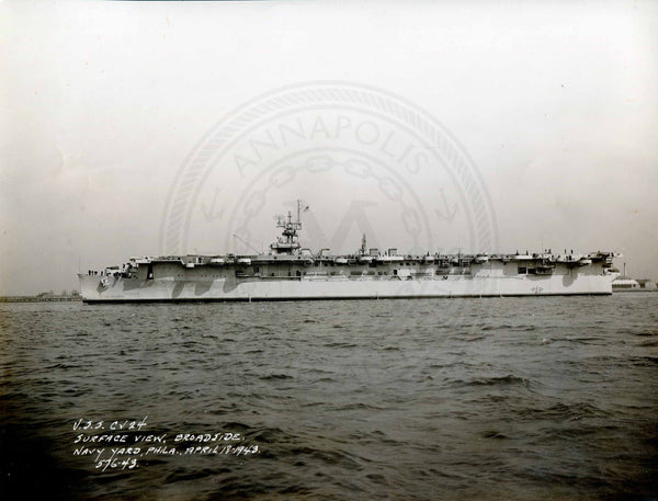 Official Navy Photo of WWII era USS Belleau Wood (CVL-24) - Annapolis Maritime Antiques