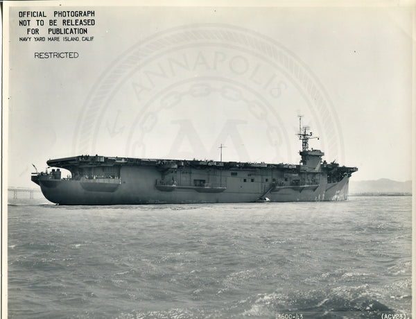 Official Navy Photo of WWII era USS Breton (CVE-23) Aircraft Carrier - Annapolis Maritime Antiques