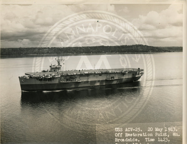 Official Navy Photo of WWII era USS Croatan (CVE-25) Aircraft Carrier - Annapolis Maritime Antiques
