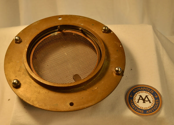 Porthole, Brass, with Wing Nut and Screen