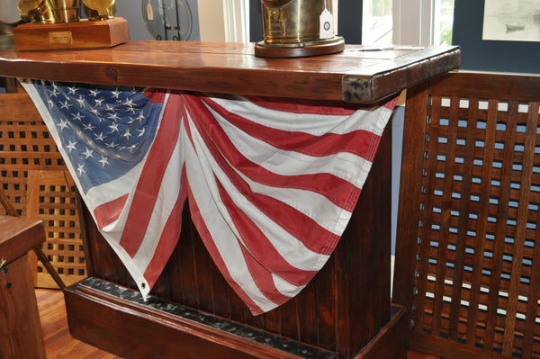 "Bar, Liberty Ship Hatch Cover Top, 74"" X 26"" X 44"" - Annapolis Maritime Antiques"