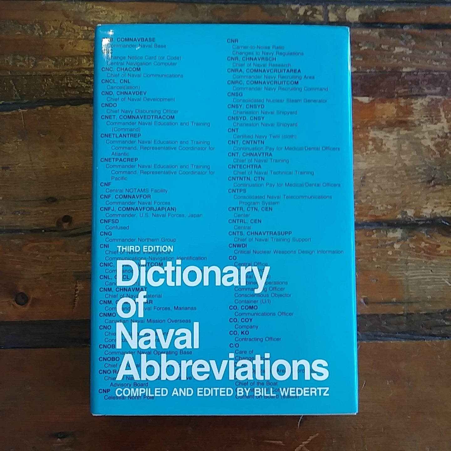 "Book ""Dictionary of Naval Abbreviations"" Copyright 1984"