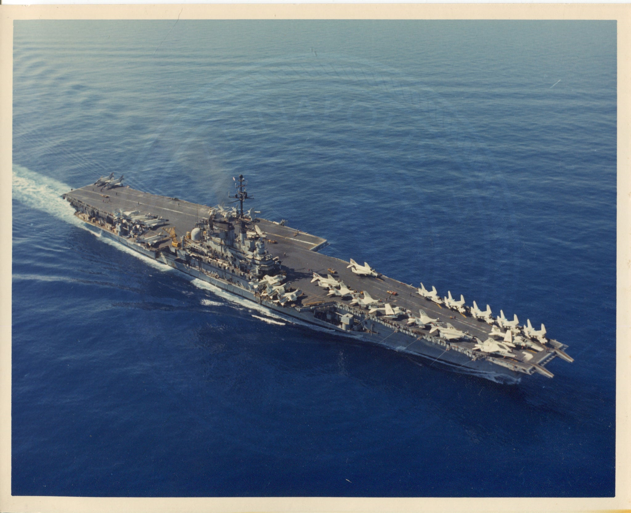 Official Navy Photo of WWII era USS Franklin D. Roosevelt (CVA-42) Aircraft Carrier - Annapolis Maritime Antiques