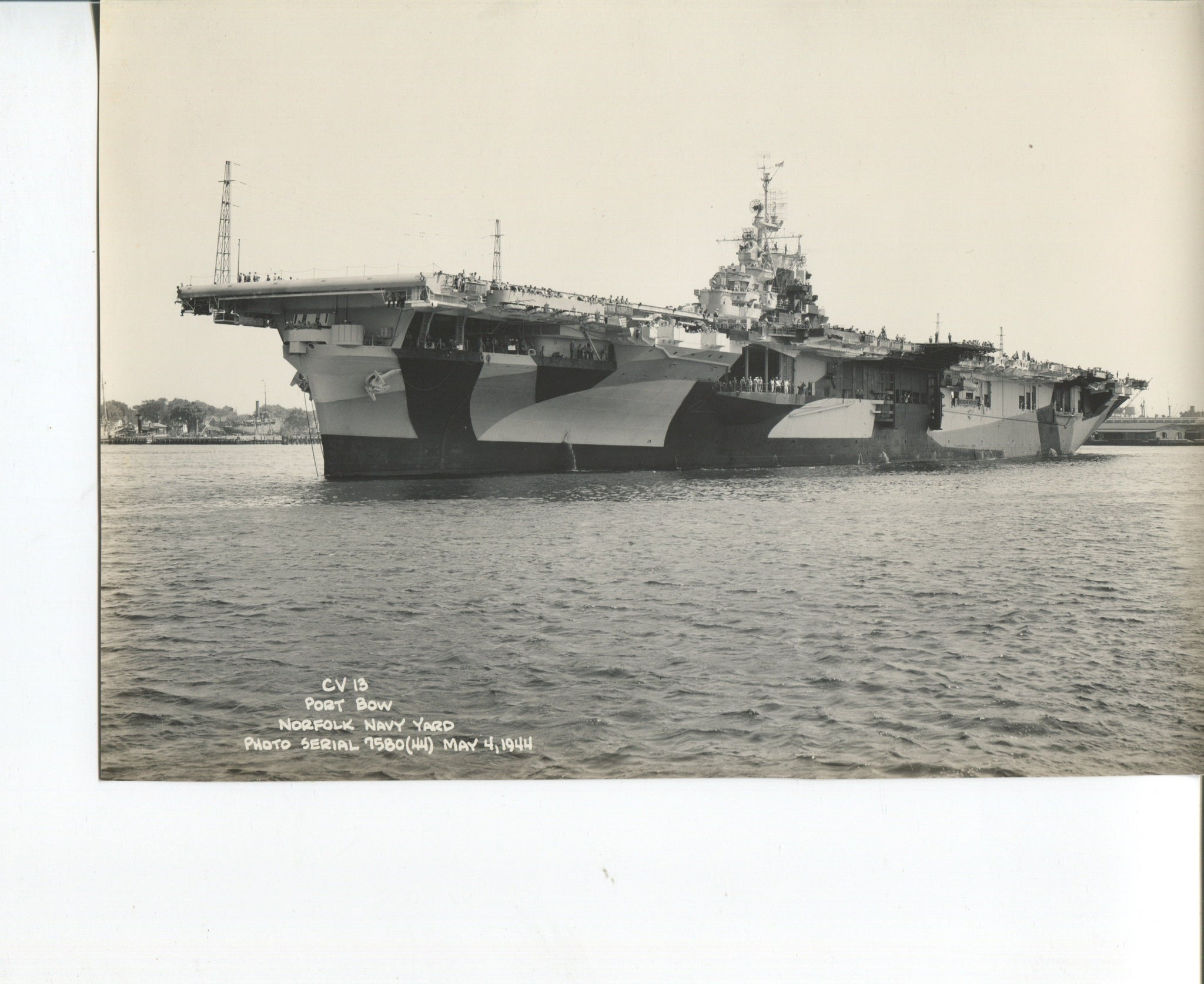 Official Navy Photo of WWII era USS Franklin (CV-13) Aircraft Carrier - Annapolis Maritime Antiques
