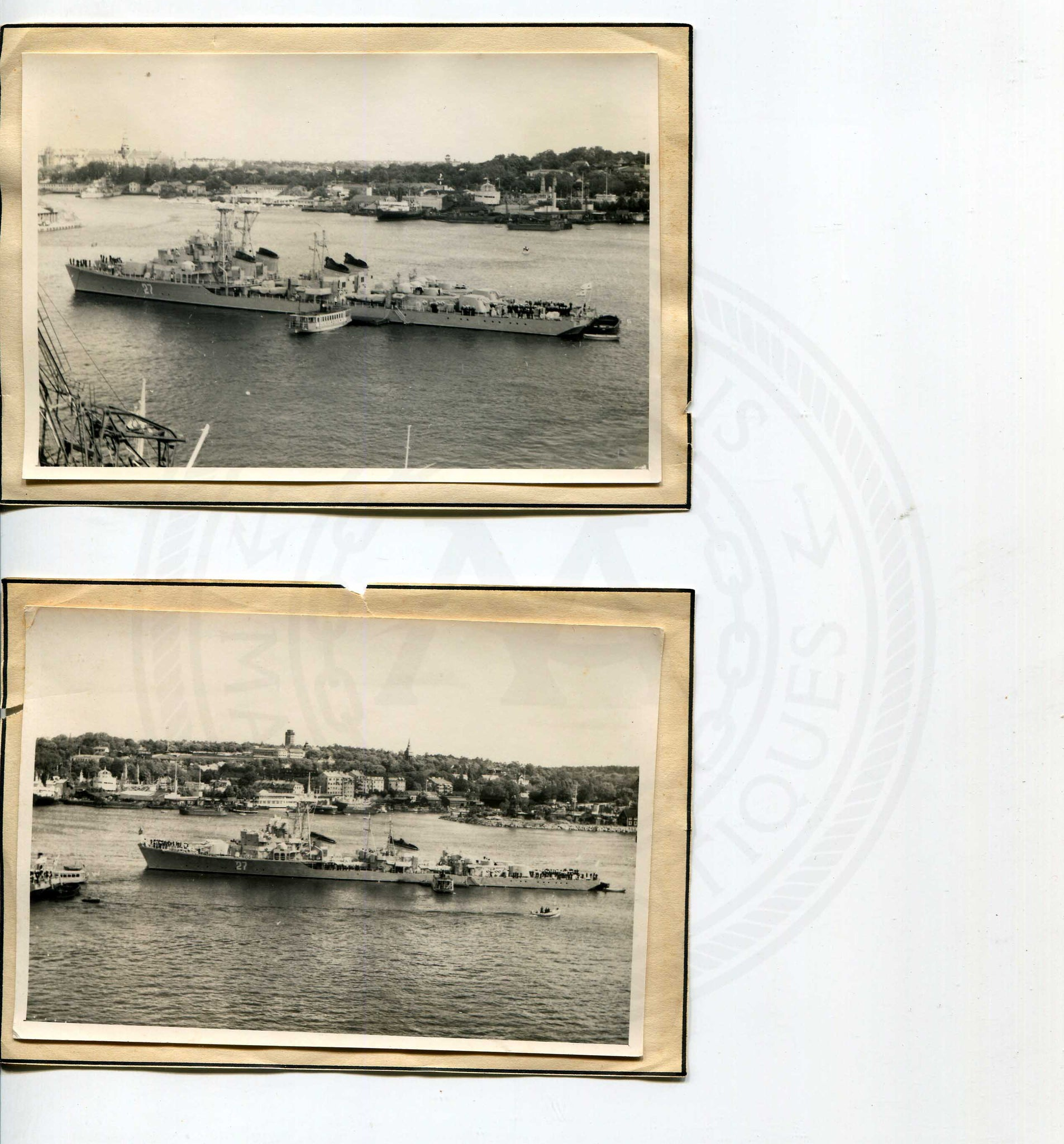 Official U.S. Navy photo of Soviet warship - Annapolis Maritime Antiques