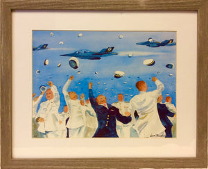 "Art, by Dave Murphy, Annapolis Artist, ""Ensign Galore"","
