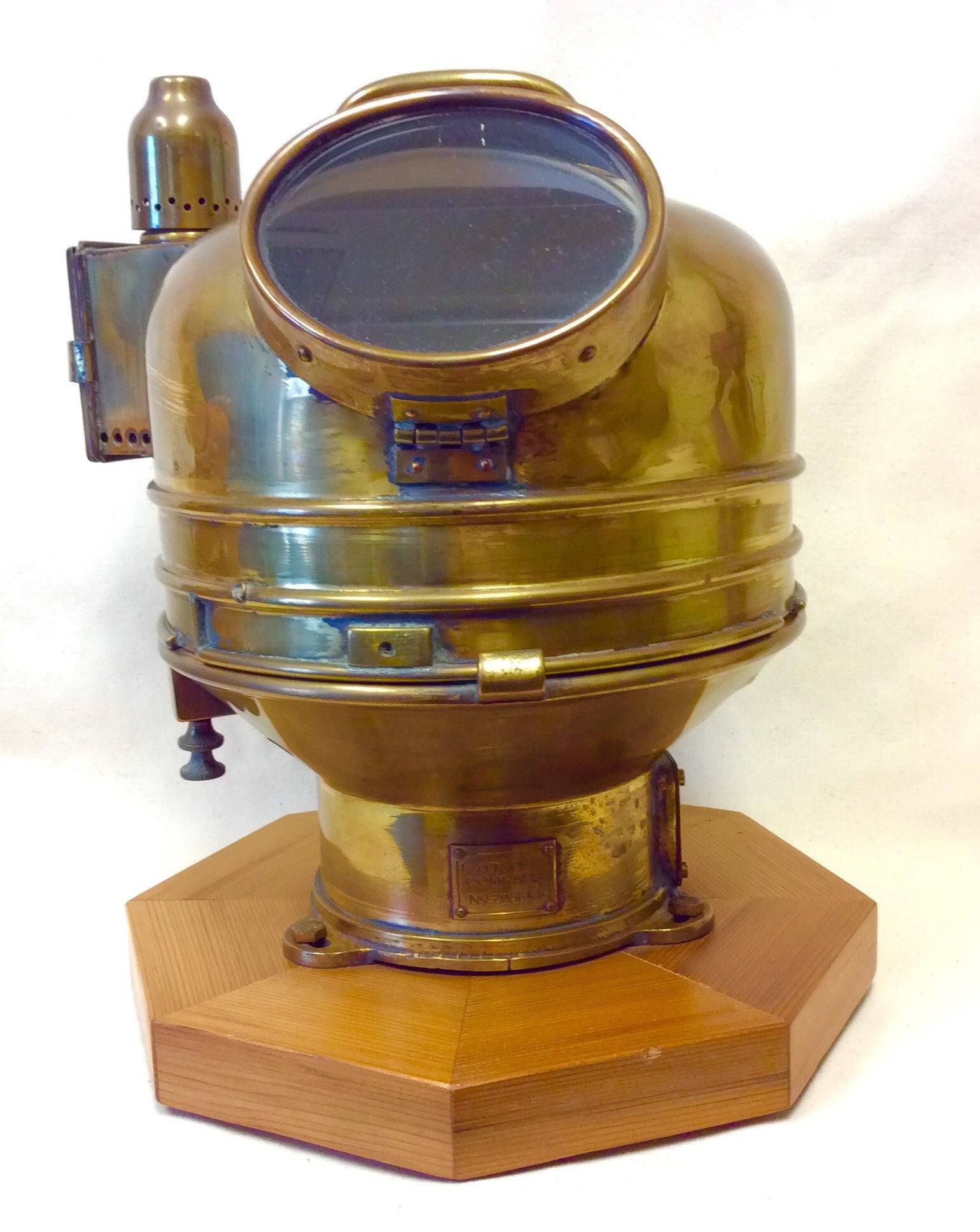 Binnacle, vintage brass