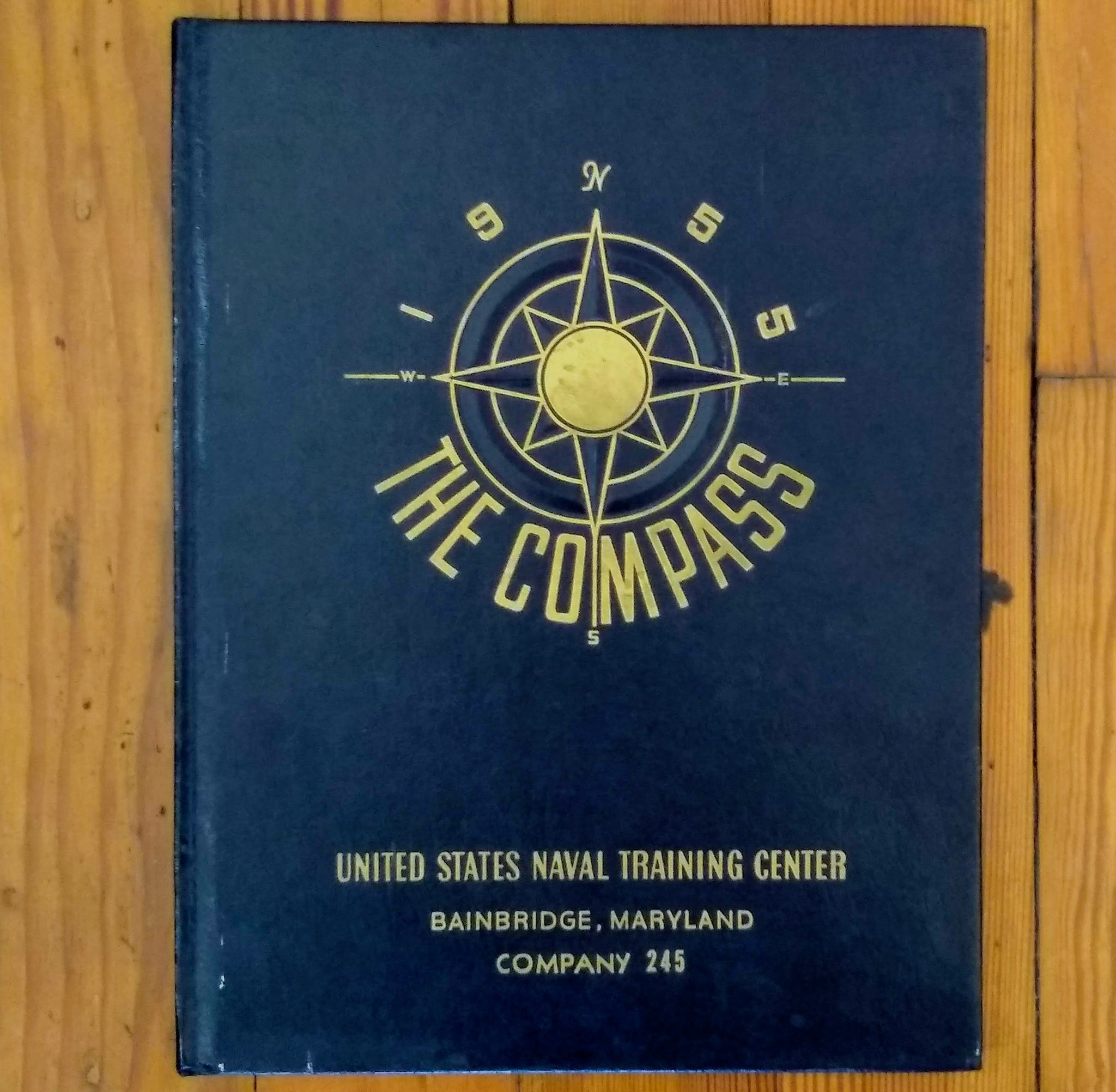 Book; The Compass, United States Naval Training Center, Company 245 - Annapolis Maritime Antiques
