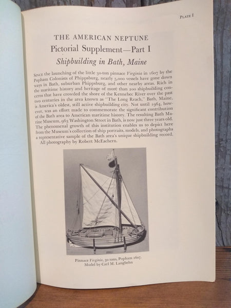 "Book; ""The American Neptune, Pictorial Supplement IX"" Paperback - Annapolis Maritime Antiques"