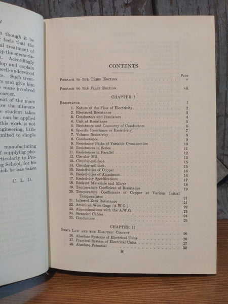 "Book; ""A course in Electrical Engineering"""" Vol I, Direct Currents, plus Answer Booklet - Annapolis Maritime Antiques"