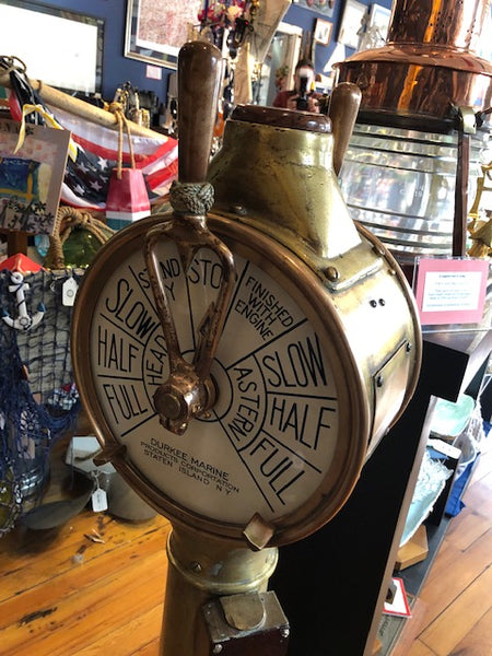 Engine Order Telegraph, circa late 1800's, Durkee Marine Products Corp., Staten Island, NY - Annapolis Maritime Antiques