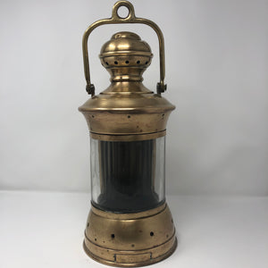 Navigation Light , Perko 270 Degree White, Clear Glass, Solid Brass - Annapolis Maritime Antiques
