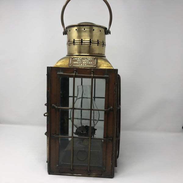 "Navigation Light, ""Chief"" British, circa 1935 - Annapolis Maritime Antiques"