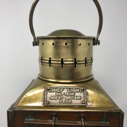 "Navigation Light, ""Chief"" British, circa 1935"